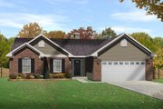 Traditional Style House Plan - 3 Beds 2 Baths 1537 Sq/Ft Plan #22-464 Exterior - Front Elevation