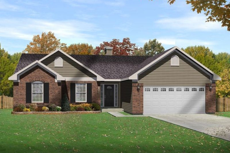 Traditional Style House Plan - 3 Beds 2 Baths 1537 Sq/Ft Plan #22-464