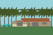 Ranch Style House Plan - 3 Beds 2 Baths 2100 Sq/Ft Plan #481-5 Exterior - Other Elevation