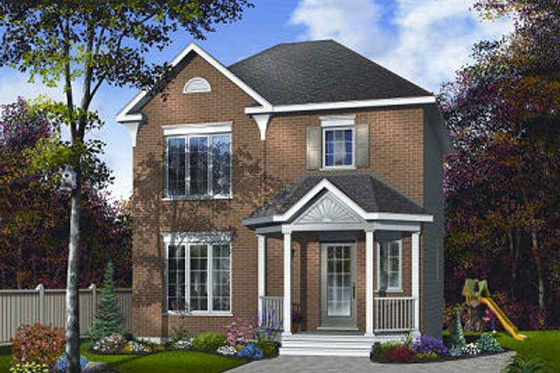 House Plan Design - Traditional Exterior - Front Elevation Plan #23-733