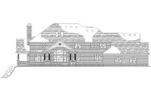 House Plan Design - Traditional Exterior - Rear Elevation Plan #5-438