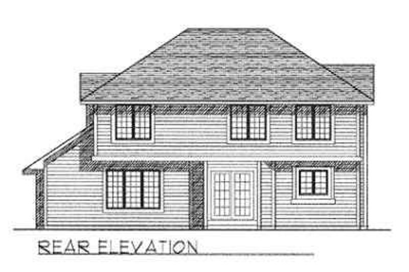 Traditional Exterior - Rear Elevation Plan #70-361 - Houseplans.com