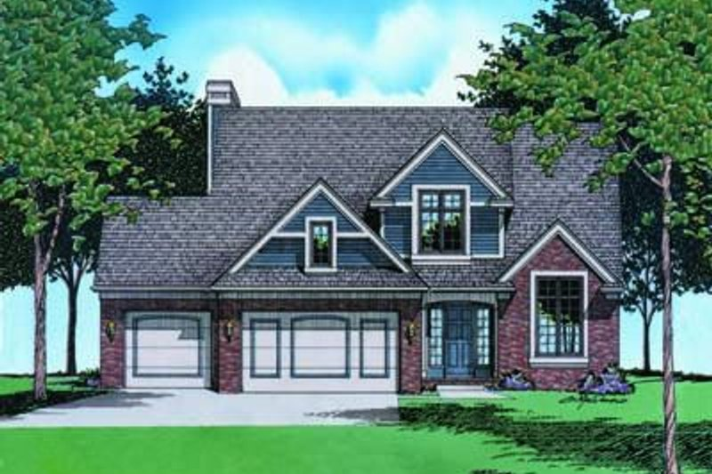 Traditional Exterior - Front Elevation Plan #20-851 - Houseplans.com