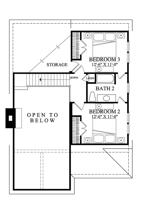 Home Plan Design - Cottage Floor Plan - Upper Floor Plan #137-272
