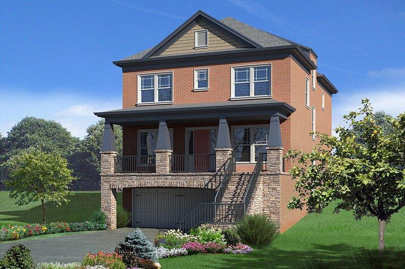 Architectural House Design - Craftsman Exterior - Front Elevation Plan #30-341
