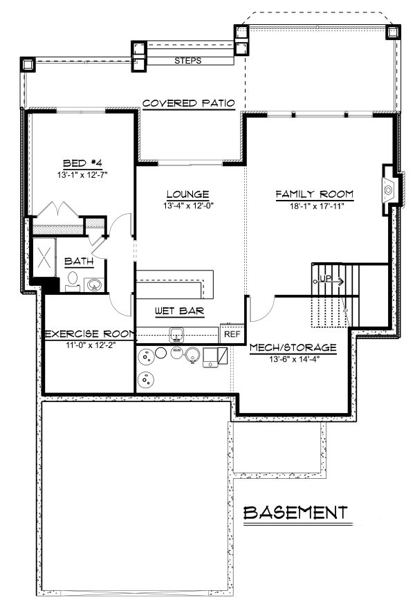 Craftsman Floor Plan - Other Floor Plan Plan #1064-14