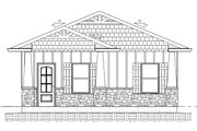 Ranch Style House Plan - 1 Beds 1 Baths 625 Sq/Ft Plan #1077-6 Exterior - Front Elevation