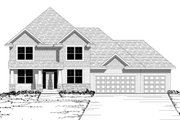 Craftsman Style House Plan - 4 Beds 2.5 Baths 2766 Sq/Ft Plan #51-495 Exterior - Other Elevation