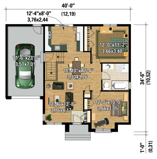 Contemporary Floor Plan - Main Floor Plan Plan #25-4275