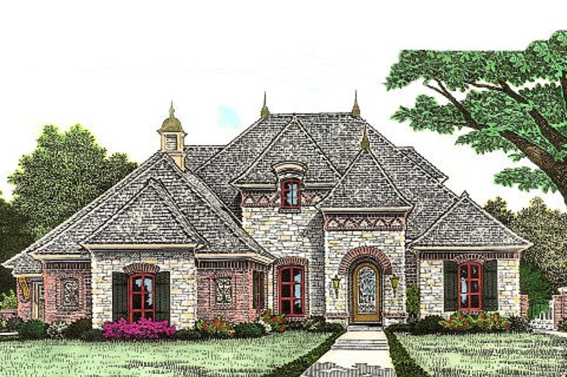 European Exterior - Front Elevation Plan #310-964