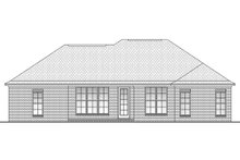 Dream House Plan - Ranch Exterior - Rear Elevation Plan #430-59