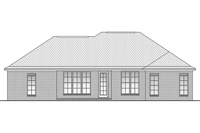 Ranch Exterior - Rear Elevation Plan #430-59 - Houseplans.com