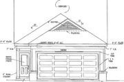 Cottage Style House Plan - 2 Beds 2 Baths 1206 Sq/Ft Plan #81-160 Exterior - Rear Elevation