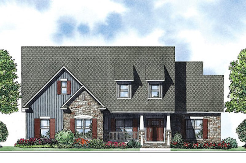 Dream House Plan - Craftsman Exterior - Front Elevation Plan #17-2413