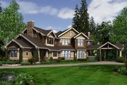 Craftsman Style House Plan - 5 Beds 4.5 Baths 5730 Sq/Ft Plan #132-179 Exterior - Front Elevation