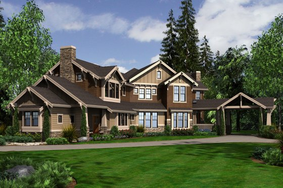 Craftsman Exterior - Front Elevation Plan #132-179