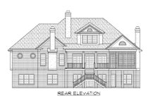 Architectural House Design - Country Exterior - Rear Elevation Plan #1054-87