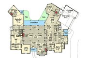 European Style House Plan - 3 Beds 4 Baths 5143 Sq/Ft Plan #310-664 Floor Plan - Main Floor