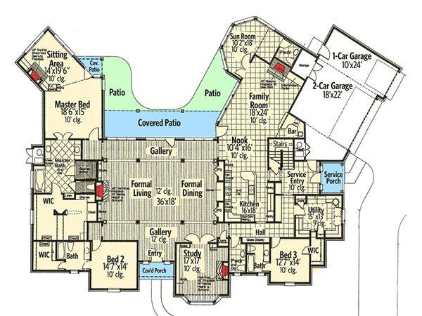 European Floor Plan - Main Floor Plan #310-664