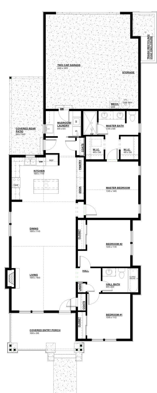 House Plan Design - Craftsman Floor Plan - Main Floor Plan #895-106