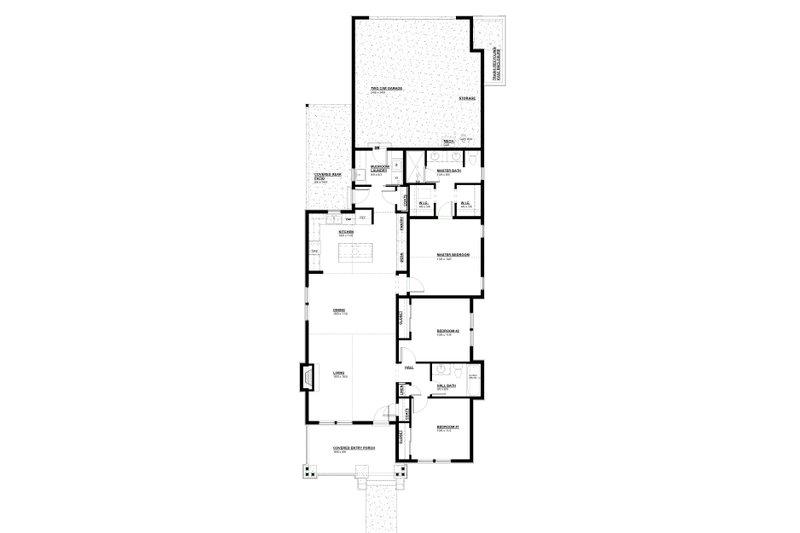 Craftsman Floor Plan - Main Floor Plan Plan #895-106