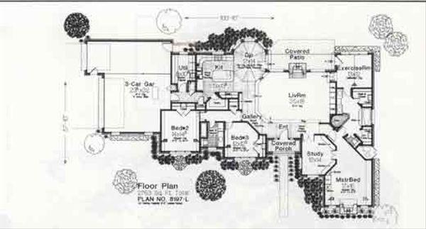 Colonial Floor Plan - Main Floor Plan #310-885
