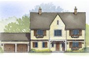 Traditional Style House Plan - 4 Beds 2.5 Baths 2810 Sq/Ft Plan #901-89 Exterior - Front Elevation