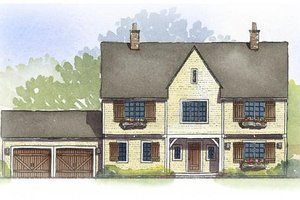 Traditional Exterior - Front Elevation Plan #901-89