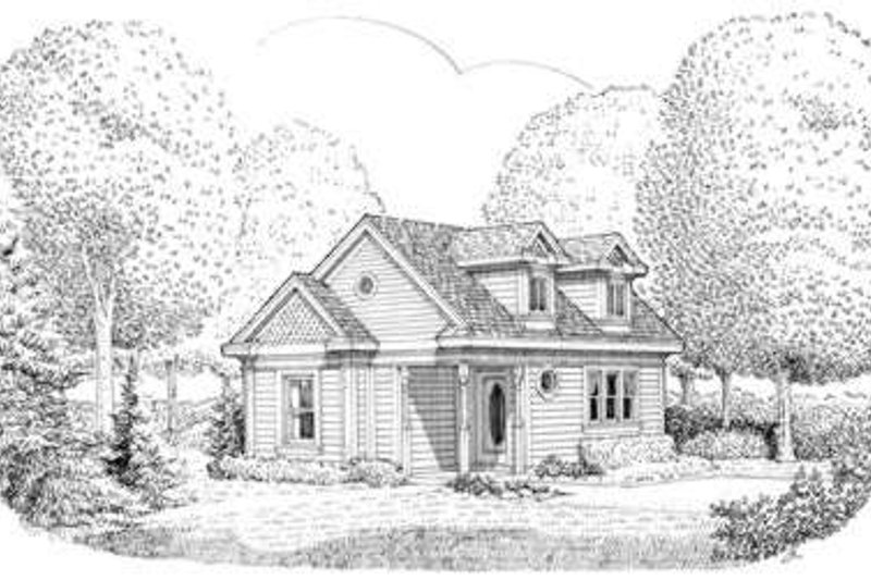Traditional Exterior - Front Elevation Plan #410-155 - Houseplans.com
