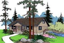Home Plan - Bungalow Exterior - Front Elevation Plan #60-571