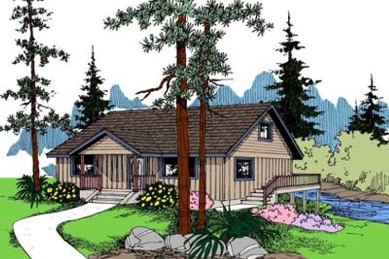 Bungalow Exterior - Front Elevation Plan #60-571