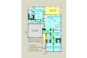 Contemporary Style House Plan - 4 Beds 2.5 Baths 2019 Sq/Ft Plan #489-6 Floor Plan - Main Floor Plan