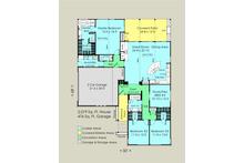 Contemporary Floor Plan - Main Floor Plan Plan #489-6