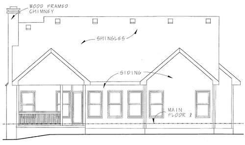 Traditional Exterior - Rear Elevation Plan #20-1248 - Houseplans.com