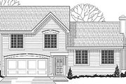 Traditional Style House Plan - 3 Beds 2 Baths 1371 Sq/Ft Plan #67-635 Exterior - Front Elevation