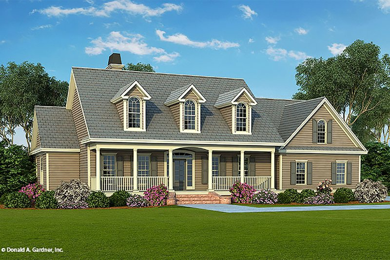 Country Exterior - Front Elevation Plan #929-20