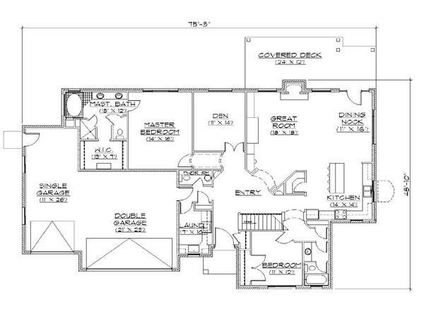 House Plan Design - Traditional Floor Plan - Main Floor Plan #5-255