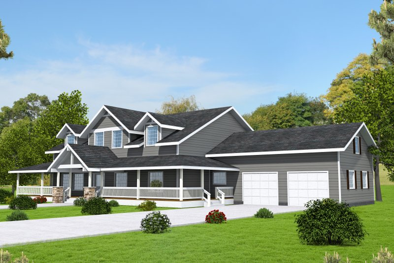 Home Plan - Country Exterior - Front Elevation Plan #117-889