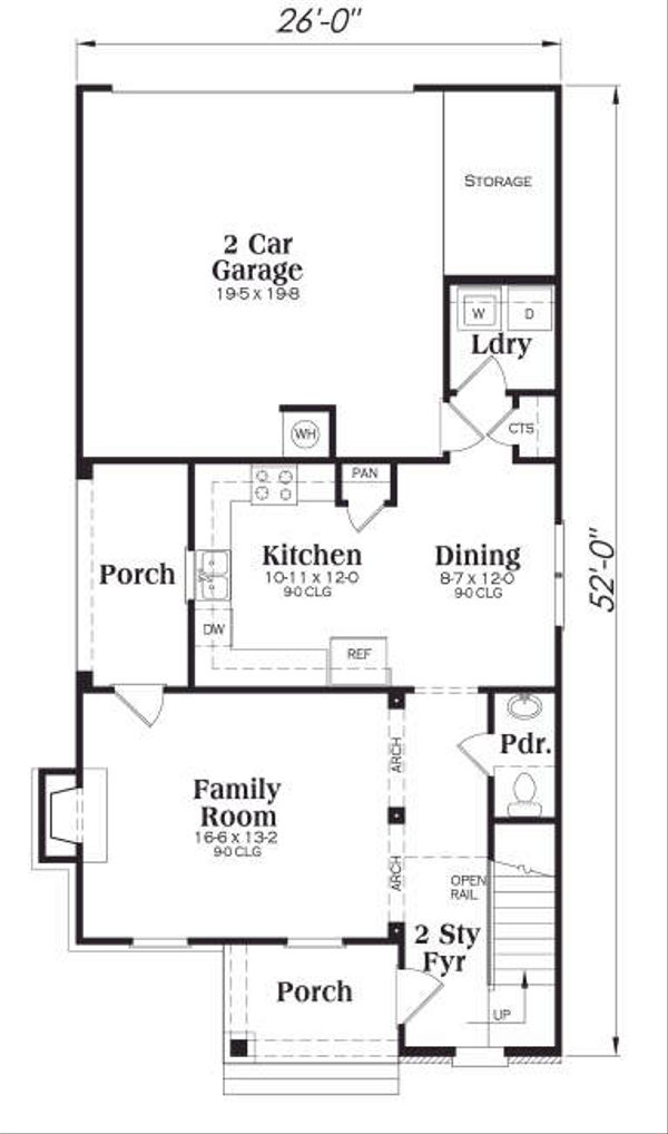 Craftsman Floor Plan - Main Floor Plan Plan #419-167