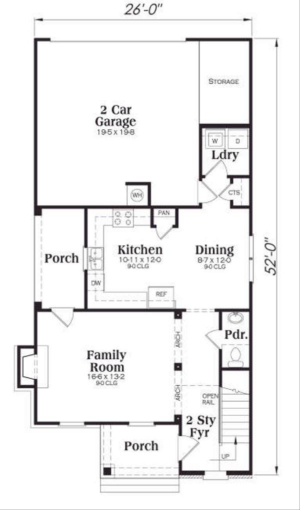 Home Plan - Craftsman Floor Plan - Main Floor Plan #419-167