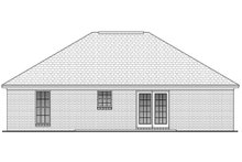 Home Plan - Traditional Exterior - Rear Elevation Plan #430-2