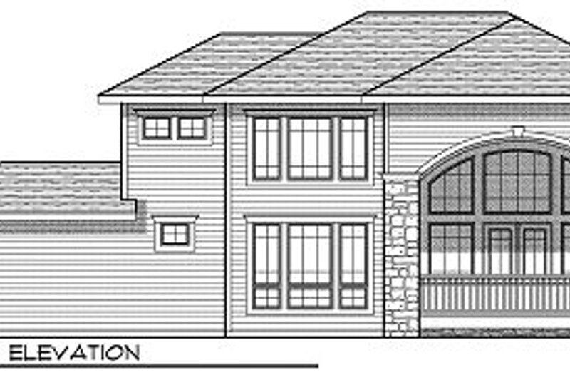 European Exterior - Rear Elevation Plan #70-877 - Houseplans.com