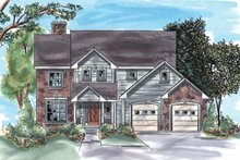 Home Plan Design - Traditional Exterior - Front Elevation Plan #20-1275