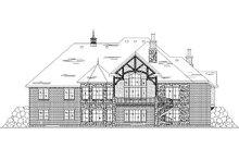 House Plan Design - European Exterior - Rear Elevation Plan #5-295