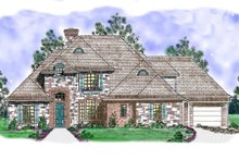 Architectural House Design - European Exterior - Front Elevation Plan #52-169