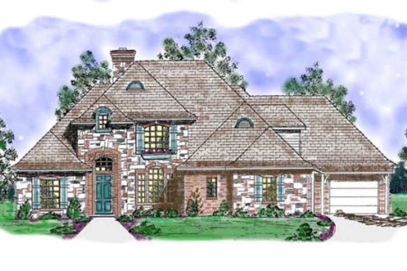 European Exterior - Front Elevation Plan #52-169 - Houseplans.com
