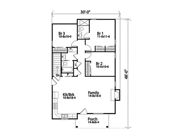 Ranch Floor Plan - Main Floor Plan #22-614