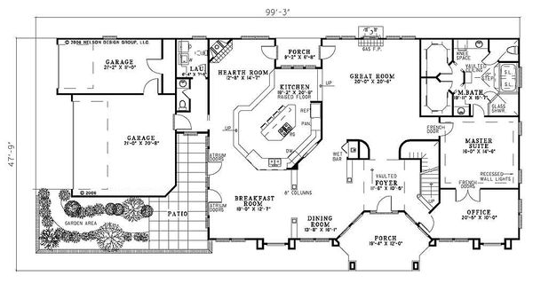 Ranch Floor Plan - Main Floor Plan #17-2273
