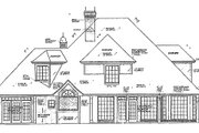 European Style House Plan - 4 Beds 3.5 Baths 3017 Sq/Ft Plan #310-155 Exterior - Rear Elevation