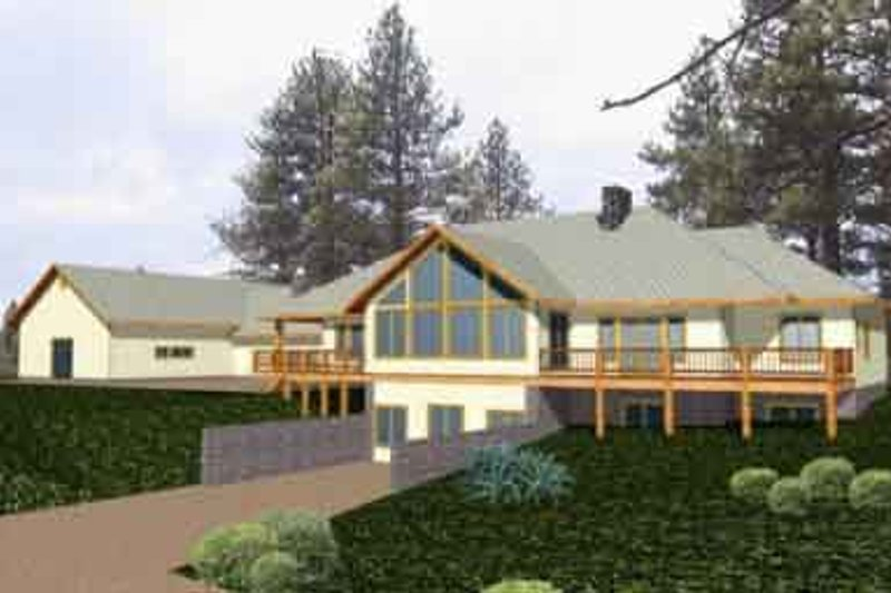 Traditional Exterior - Front Elevation Plan #117-243 - Houseplans.com